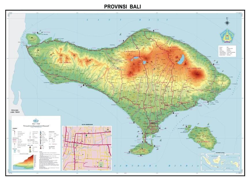 Peta Abel Petrus Sumber Http Www Bakosurtanal Id Gambar Bali