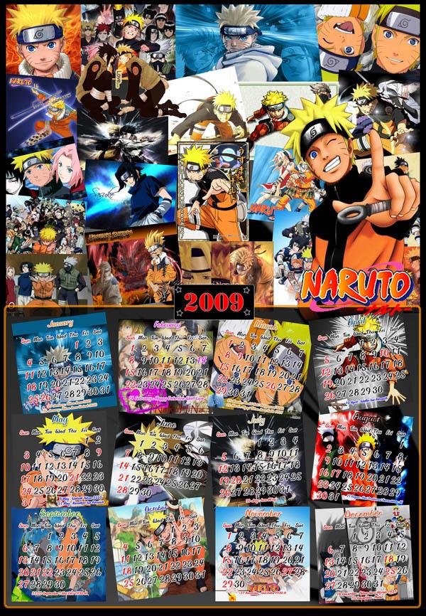 Naruto Calendar 2009