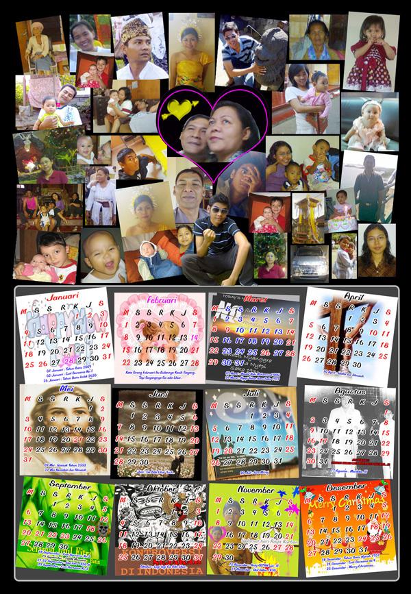 Santy's Family Calendar
