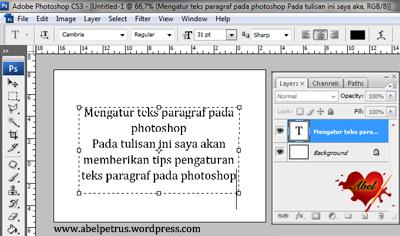 Copy paste atau ketik teks yang Anda inginkan