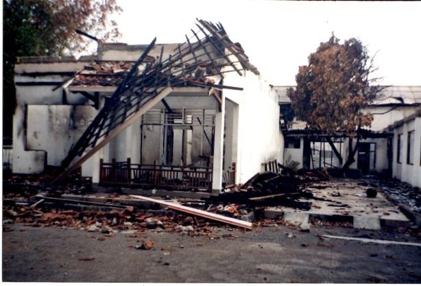 Kondisi Pastoran dan Gereja Mataram dalam peristiwa kerusuhan 171 tahun 2000, Mataram